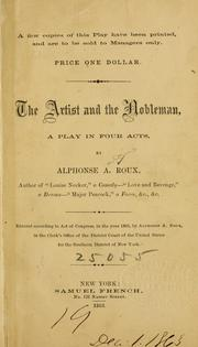 Cover of: The artist and the nobleman ..