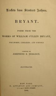 Cover of: Bryant: Poems from the works of William Cullen Bryant