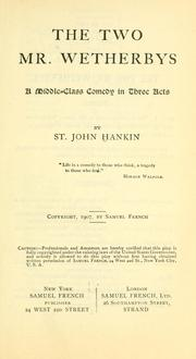 Cover of: two Mr. Wetherbys | Hankin, St. John Emile Clavering