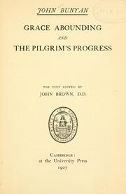 Cover of: Grace abounding and The pilgrim