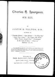 Cover of: Charles H. Spurgeon, our ally