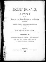 Cover of: Jesuit morals |
