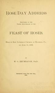 Cover of: Rose Day address