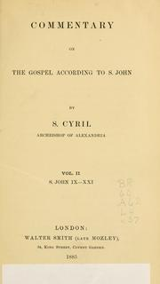 Cover of: Commentary on the Gospel according to S. John