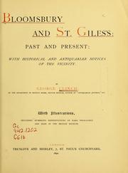 Cover of: Bloomsbury and St. Gile's