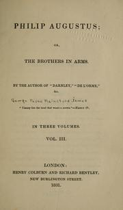 Cover of: Philip Augustus, or, The brothers in arms