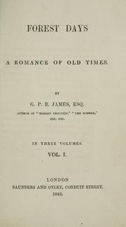 Cover of: Forest days: a romance of old times.