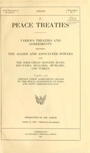 Cover of: Peace treaties