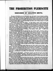 Cover of: The prohibition plebiscite