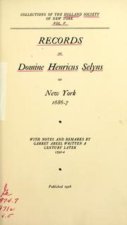 Cover of: Collections. | Holland Society of New York.