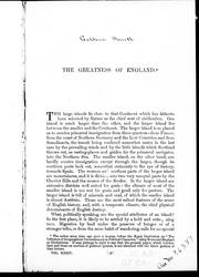 Cover of: The greatness of England