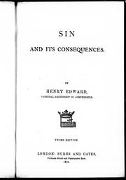 Cover of: Sin and its consequences | Henry Edward Manning