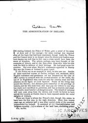 Cover of: The administration of Ireland