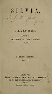 Cover of: Silvia. | Julia Kavanagh