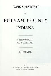 Cover of: Weik's history of Putnam County, Indiana | Jesse William Weik