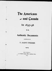 Cover of: The Americans and Canada in 1837-38 |