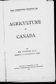 Cover of: Agriculture in Canada