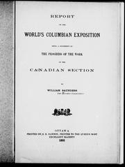 Cover of: Report on the World's Columbian Exposition