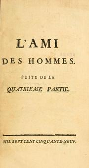 Cover of: L' ami des hommes