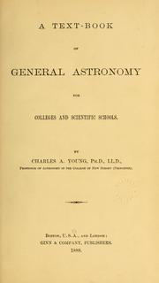 Cover of: A text-book of general astronomy