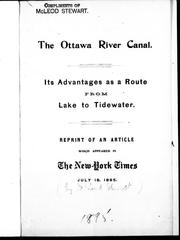 Cover of: The Ottawa River Canal