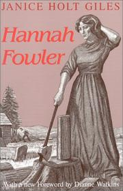 Cover of: Hannah Fowler