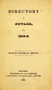 Cover of: Directory of Newark, for 1835-6 |