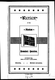 Cover of: Review of the Alaskan boundary question