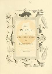 Cover of: The poems of William Drummond of Hawthornden