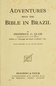 Cover of: Adventures with the Bible in Brazil | Frederick Charles Glass