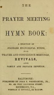 Cover of: The prayer meeting hymn book