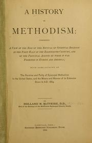 Cover of: history of Methodism | Holland Nimmons McTyeire