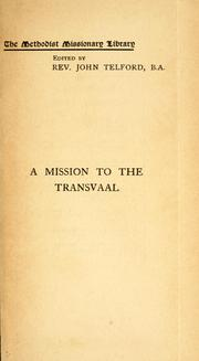 Cover of: mission to the Transvaal | Amos Burnet
