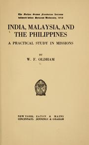 Cover of: India, Malaysia, and the Philippines | William Fitzjames Oldham