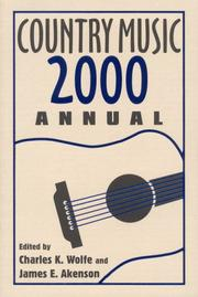 Cover of: Country Music Annual 2000 |