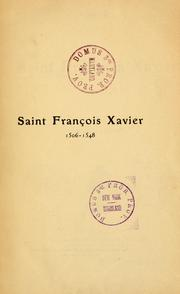 Cover of: Saint François Xavier