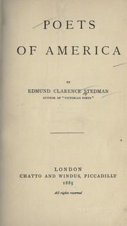 Cover of: Poets of America