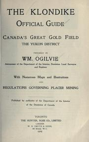 The Klondike official guide by William Ogilvie