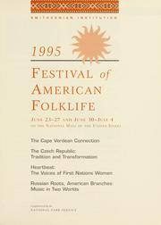 Cover of: 1995 Festival of American Folklife | Festival of American Folklife (1995 Washington, D.C.)