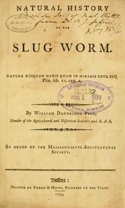 Cover of: Natural history of the slug worm