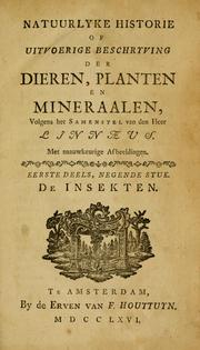 Systema naturae by Carl Linnaeus