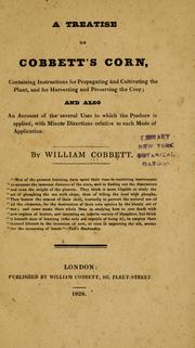 Cover of: A treatise on Cobbett's corn