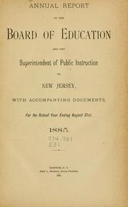 Annual report of the New Jersey State Board of Education.