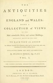Cover of: The antiquities of England and Wales