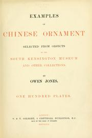 Examples of Chinese ornament selected from objects in the South Kensington museum and other collections.