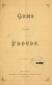 Cover of: Gems from Froude