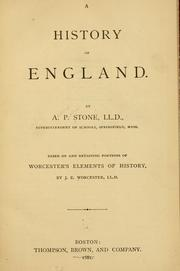 Cover of: history of England. | Admiral Paschal Stone