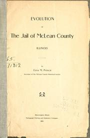 Cover of: Evolution of the jail of McLean County, Illinois | Ezra M. Prince