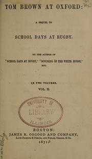 Cover of: Tom Brown at Oxford by Thomas Hughes