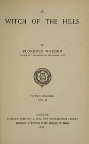 Cover of: witch of the hills | Florence Warden